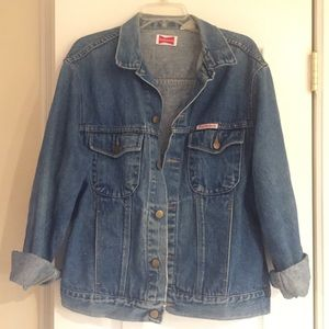 Over sized Budweiser jean jacket!